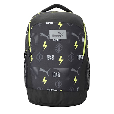 PUMA Fizzy Backpack IND, Puma Black-AOP, small-IND