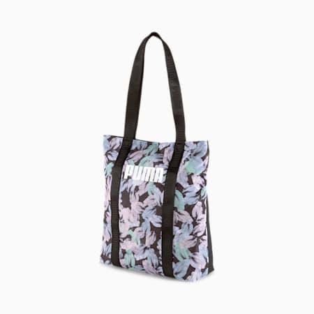 Core Base Women's Shopper, Puma Black-Leaf AOP, small