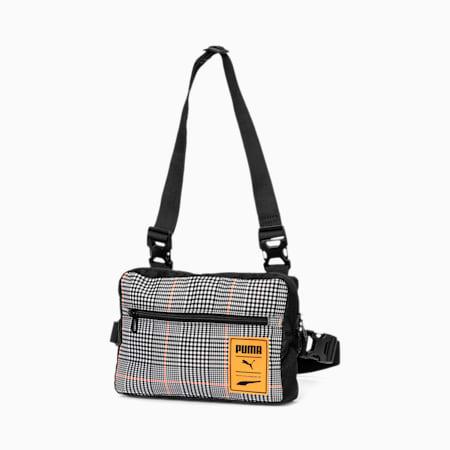 Street Utility Bag, Puma Black-Vibrant Orange-AO, small-SEA