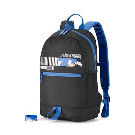 PUMA x SONIC Kids' Backpack, Puma Black, small-SEA