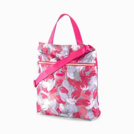Core Seasonal Women's Shopper, BRIGHT ROSE-Leaf AOP, small-SEA