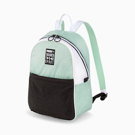 Prime Street Women's Backpack, Mist Green-Black-White, small-SEA