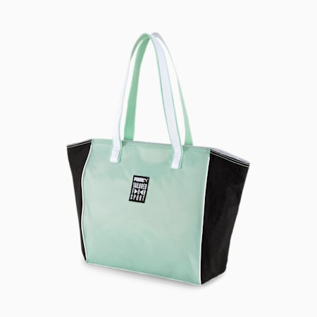 Prime Street Large Shopper, Mist Green-Black-White, small-IND