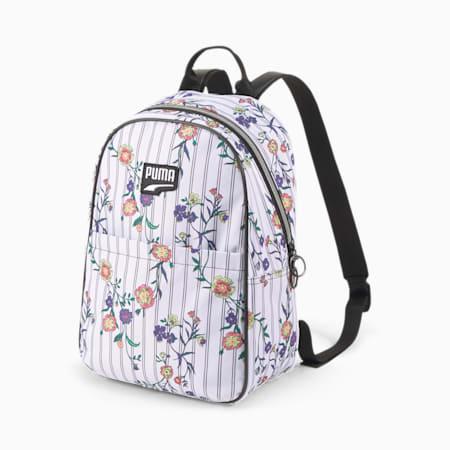 Prime Time Festival Backpack, White-Black-flower AOP, small