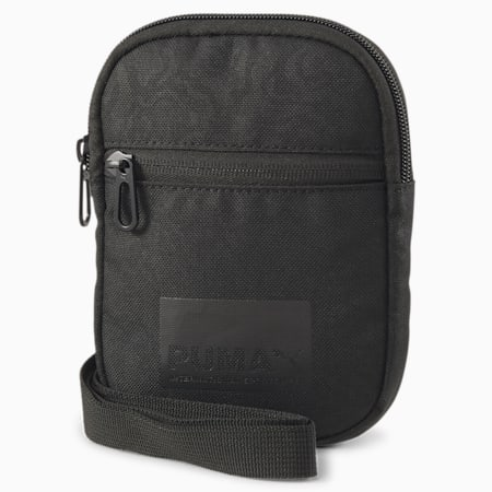 Evolution Street Portable Shoulder Bag, Puma Black-AOP, small-SEA
