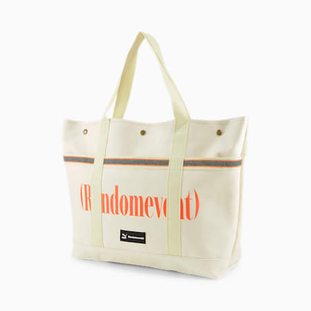 PUMA x RANDOMEVENT Tote Bag, White Asparagus-raw canvas, small