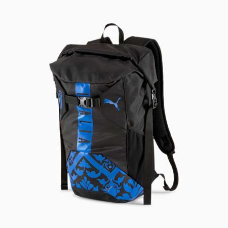 Mochila Italia FtblCulture enrollable, Puma Black-Team Power Blue, small