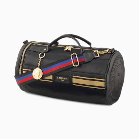 PUMA x BALMAIN Barrel Bag, Puma Black, small-SEA
