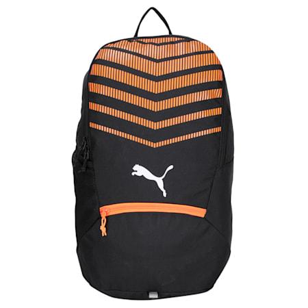 ftblPLAY Backpack, Puma Black-Shocking Orange, small-IND