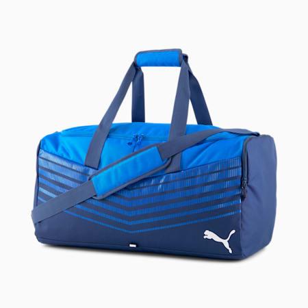ftblPLAY Medium Sports Bag, New Navy-Electric Blue Lemon, small-IND