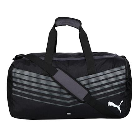 ftblPLAY Medium Sports Bag, Puma Black-Asphalt, small-IND