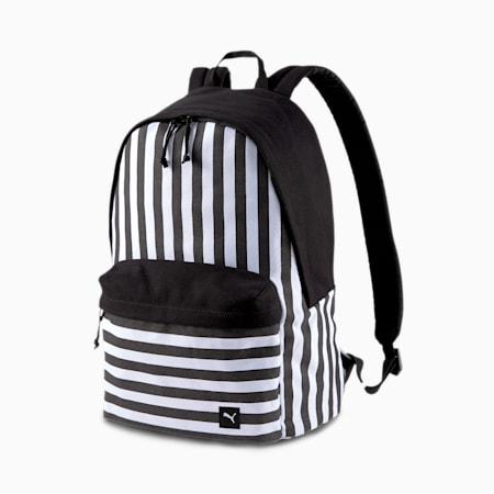 PUMA x ODIN Backpack, Puma White-Puma Black-Stripe, small
