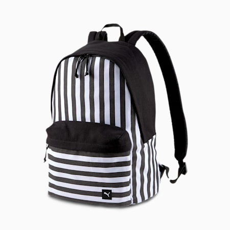 PUMA x ODIN Backpack, Puma White-Puma Black-Stripe, small-SEA