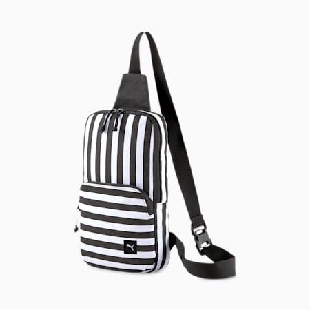 PUMA x ODIN Cross Body Bag, Puma White-Puma Black, small