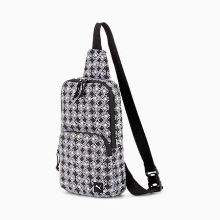 PUMA x ODIN Cross Body Bag, Puma White-Puma Black-Zoltar, small