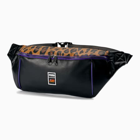 PUMA x PAUL STANLEY Waist Bag, Puma Black-AOP, small