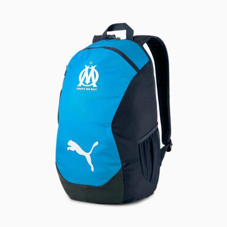 Mochila de fútbol Olympique de Marsella FINAL, Peacoat-Bleu Azur, small