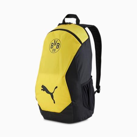 BVB FINAL Backpack, Puma Black-Cyber Yellow, small