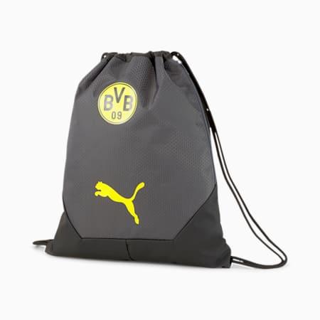 BVB FINAL Football sporttas, Asphalt-Cyber Yellow, small