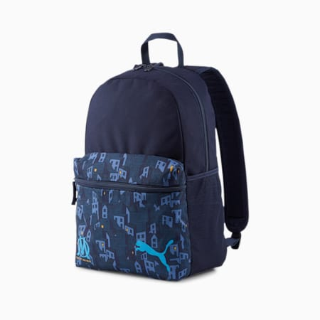 Olympique de Marseille ftblCORE Phase Football Backpack, Peacoat-Bleu Azur, small-IND