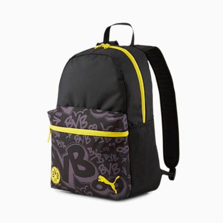 BVB ftblCore Phase Backpack, Asphalt-Cyber Yellow, small