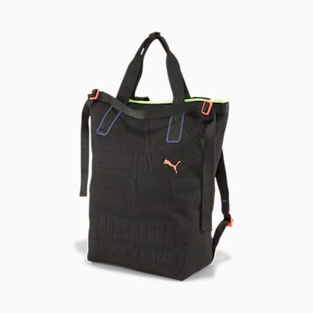 PUMA x CENTRAL SAINT MARTINS COLLEGE Knit Backpack, Puma Black, small-SEA