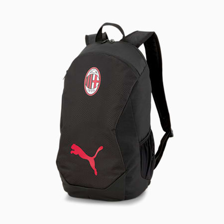 AC Milan Final Unisex Backpack, Puma Black-Tango Red, small-IND