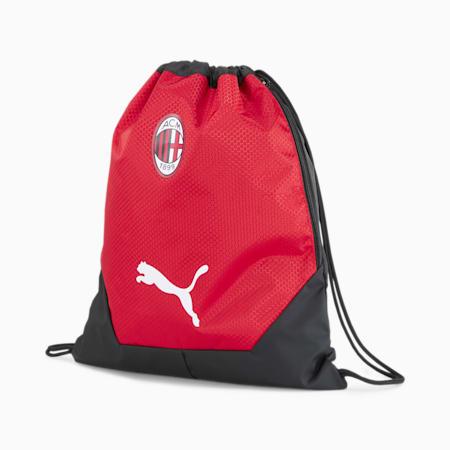 AC Milan FINAL Gym Sack, Puma Black-Tango Red, small