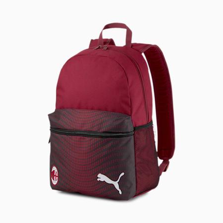 AC Milan Football Phase Backpack, Cordovan-Puma Black, small-IND