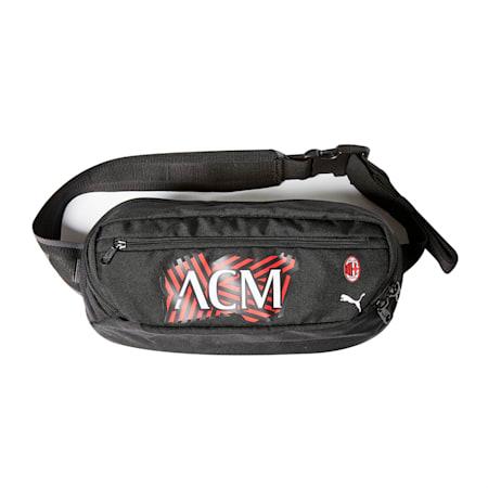 ACM FtblCore 웨이스트백/ACM Ftbl Core Waist Bag, Tango Red -Puma Black, small-KOR