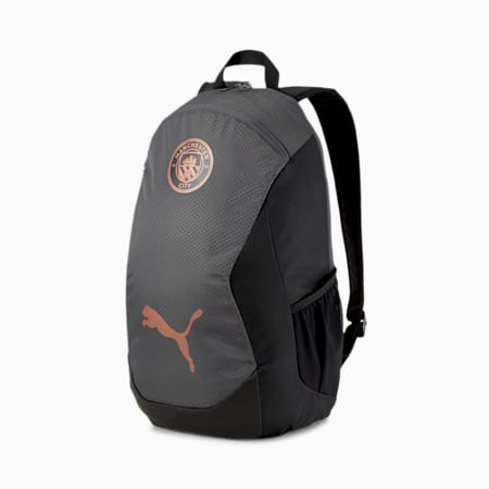 Man City FINAL Football Backpack, Asphalt-Copper, small