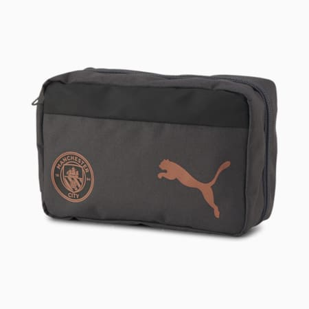 Man City Team Football Wash Bag, Asphalt-Copper, small-SEA
