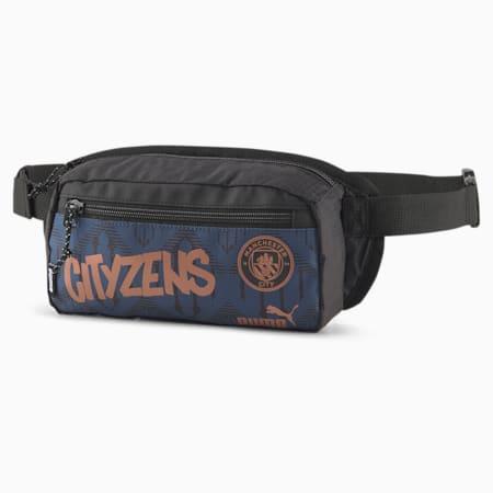 Man City ftblCULTURE Football Waist Bag, Puma Black-Copper, small