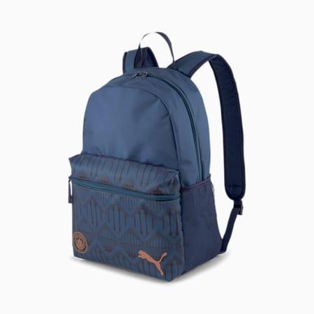 Man City ftblCORE Football Backpack, Puma Black-Copper, small-SEA