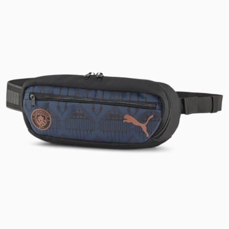 Man City ftblCORE Football Waist Bag, Puma Black-Copper, small-SEA