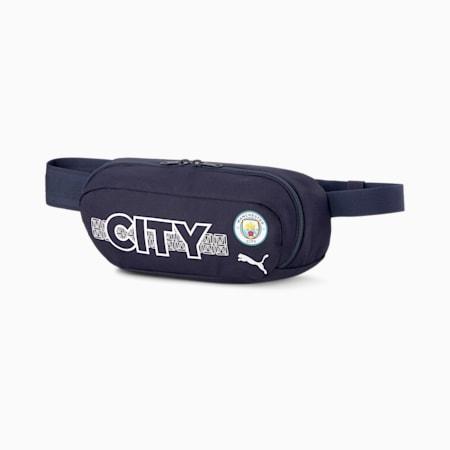 Man City ftblCORE Football Waist Bag, Peacoat-Team Light Blue, small-SEA