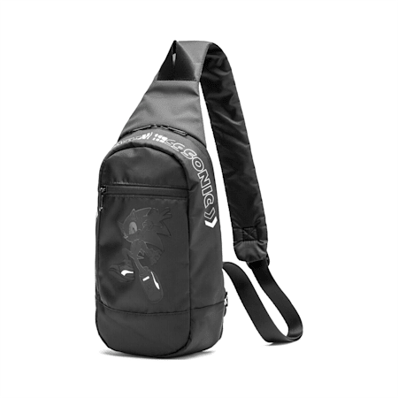 PUMA x SONIC Men's Crossbody Bag, Puma Black, small