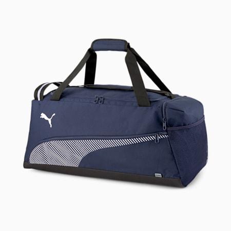 Fundamentals Lifestyle Unisex Sports Bag, Peacoat-Puma White, small-IND