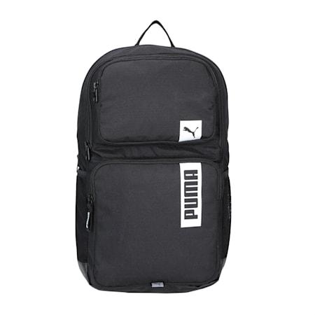 PUMA Deck II Unisex Backpack, Puma Black, small-IND