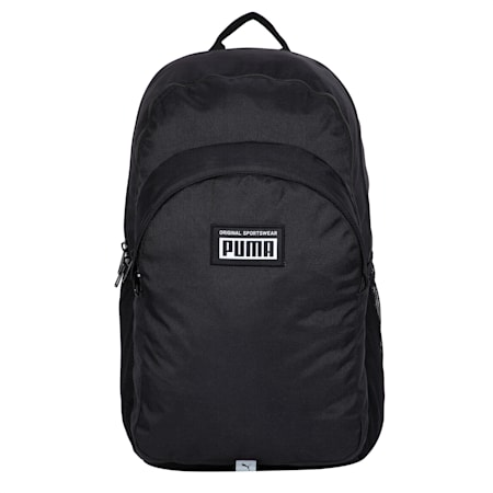 PUMA Academy Unisex Backpack, Puma Black, small-IND