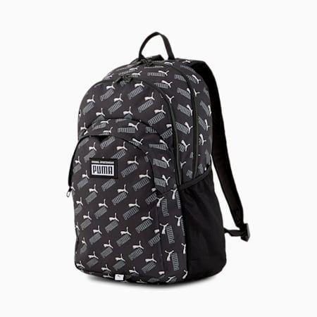 PUMA Academy Backpack, Puma Black-PUMA No. 1 AOP, small