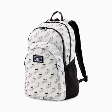 Academy Backpack, Puma White-PUMA No. 1 AOP, small-SEA