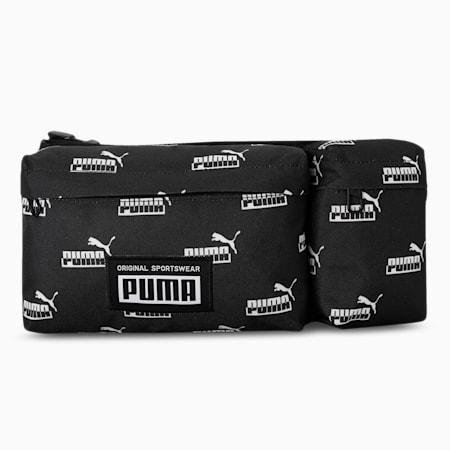 Academy Multi Waist Bag, Puma Black-PUMA No. 1 AOP, small-IND