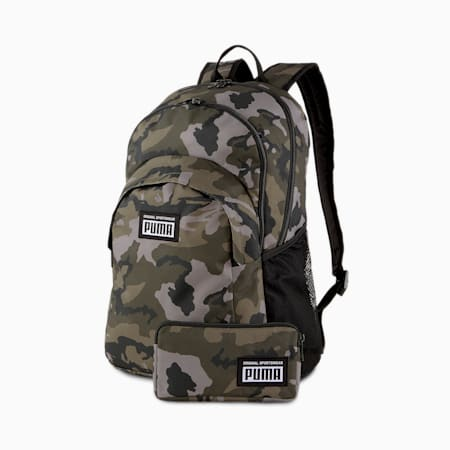 Academy Backpack Set, Forest Night-Camo AOP, small