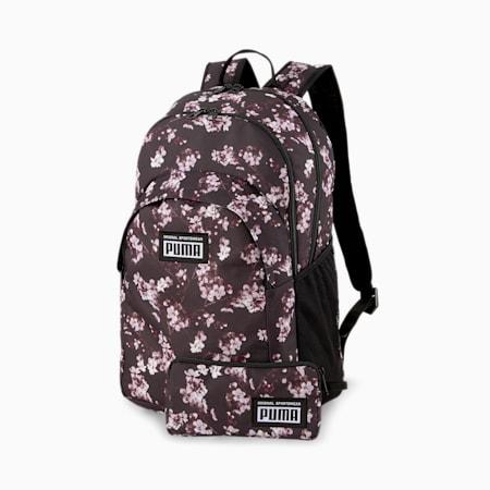 Academy Backpack Set, Puma Black-Floral AOP, small