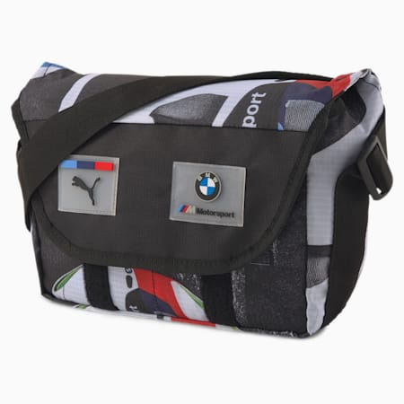 BMW M Motorsport Street Mini Messenger Bag, Puma Black, small