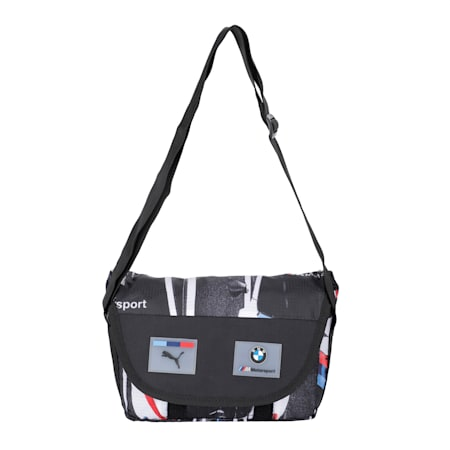 BMW M Motorsport Street Mini Messenger Bag, Puma Black, small-IND