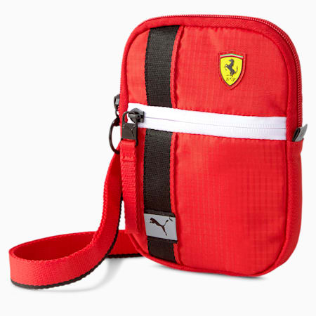 Scuderia Ferrari Race Mini Portable Bag, Rosso Corsa, small-SEA