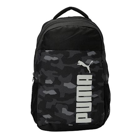 PUMA Style Backpack IND, Puma Black-Camo AOP, small-IND