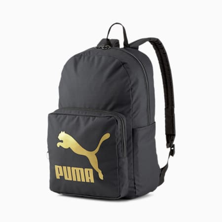 Mochila Originals, Puma Black-dorado, pequeño